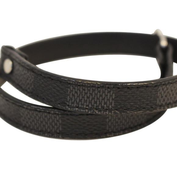 Louis Vuitton Jewelry - LOUIS VUITTON Damier Graphite Canvas Bracelet